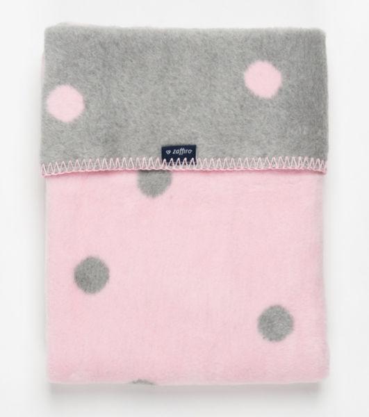 Womar Бебешко Одеяло 75х100см сиво/розово Spots