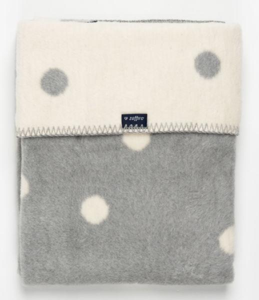 Womar Одеяло за деца 75х100см сиво/бяло Spots 514970