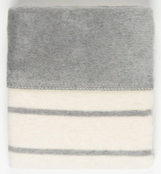 Womar Одеяло за деца 75х100см сиво/бяло Strips 515083