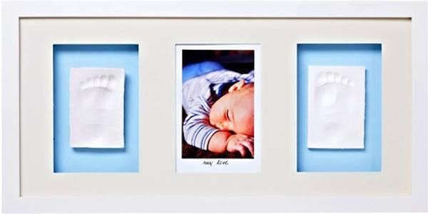 Baby Memory Print Рамка за стена 1 снимка + 2 отливки бяла 050