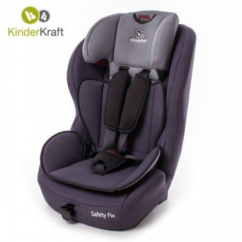 KinderKraft Детски стол за кола Safety Fix (9-36 кг.) Black/Gray