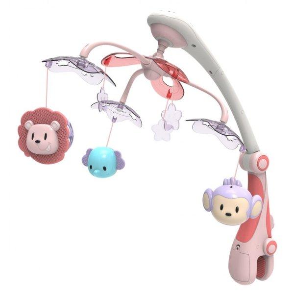 Baby Mix Бебешка музикална въртележка с проектор RC-822-206 pink
