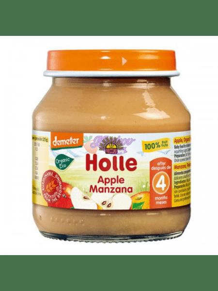 Holle Био бебешко пюре ябълка 125 гр. 4м 6297