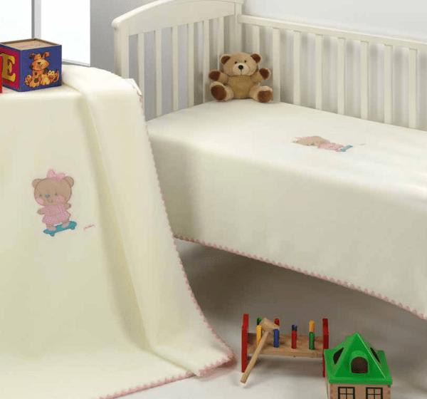 Mora Одеяло за бебе Le Jardin 110/140 rosa F46-04/pt0504