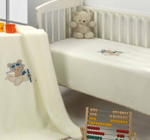 Mora Одеяло за бебе Le Jardin 110/140 beige F48-02/pt0504