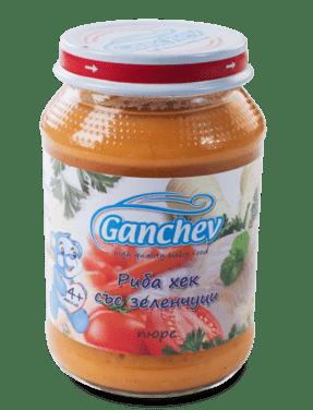 Ганчев Пюре от риба хек със зеленчуци 190 гр.