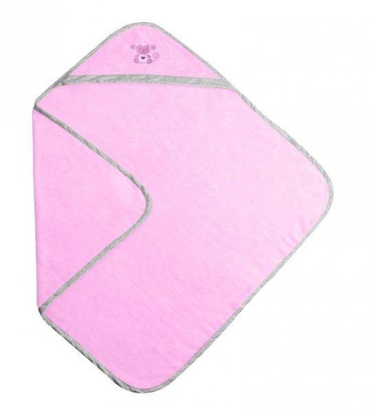 BabyMatex Хавлия за баня с качулка Bamboo розова 100/100 см 0252-1