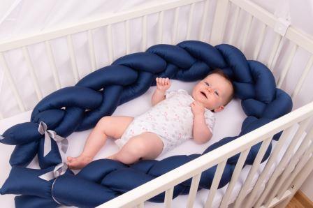 BabyMatex Ограничител - обиколник за бебешко легло син 200 см 0357-3/8506