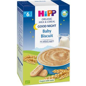 """HIPP БИО бебешка млечна каша """"Лека нощ"""" с бисквити 250гр"""