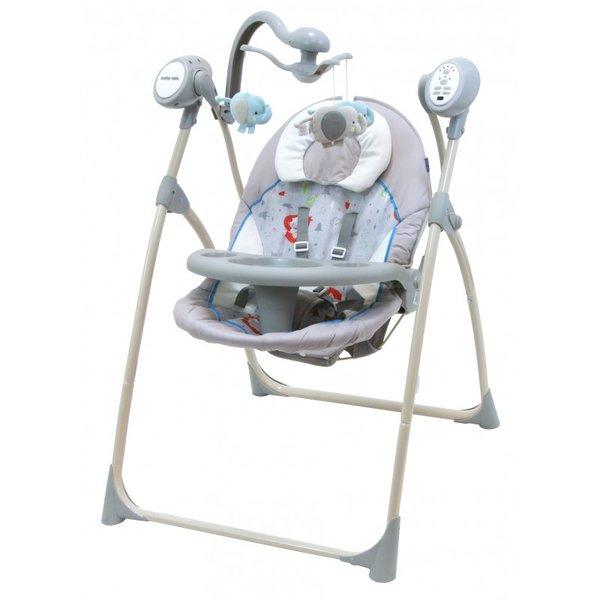 Baby Mix Бебешка електрическа люлка SW102RC GREY CREAM