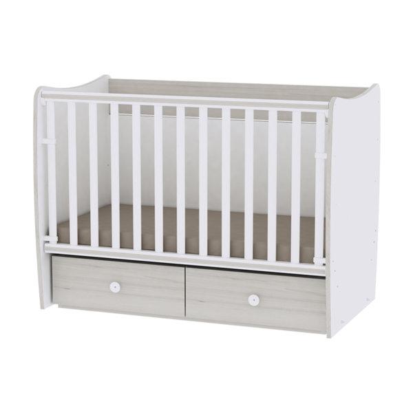 A Lorelli Бебешко легло Matrix New 60/120 бяло/светъл дъб 10150490036A