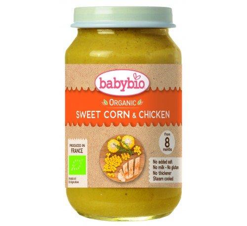 Baby Bio Зеленчуково пюре с пилешко месо 200 гр.
