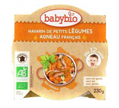 Baby Bio Бебешко пюре Меню с агнешко месо и зеленчуци-купичка 230 гр.