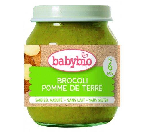 Baby Bio Бебешко Зеленчуково пюре Броколи и Картофи 130 гр.