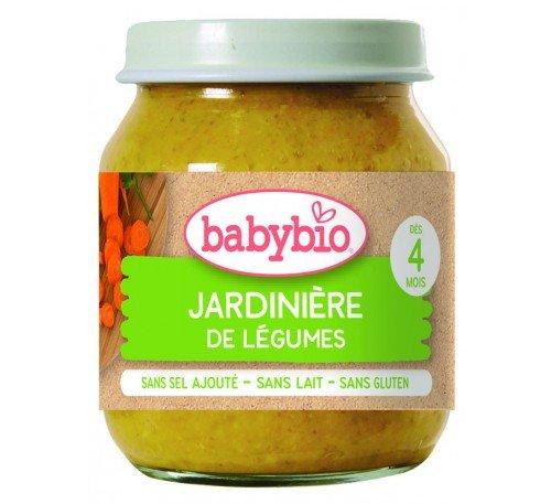 Baby Bio Бебешко Зеленчуково пюре Градински зеленчуци 130 гр.