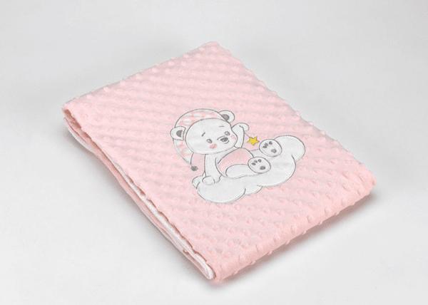 Mora Одеяло за бебе Baby Galaxy 80x110 см розово Мече Volvoreta плюш F74/04