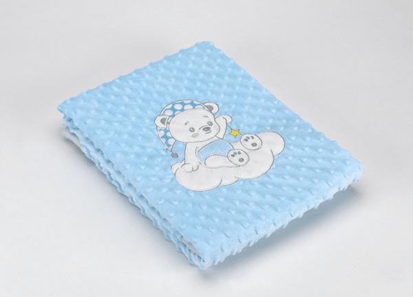 Mora Одеяло за деца Baby Galaxy 80x110 см синьо Мече Volvoreta плюш 5003 F74/05