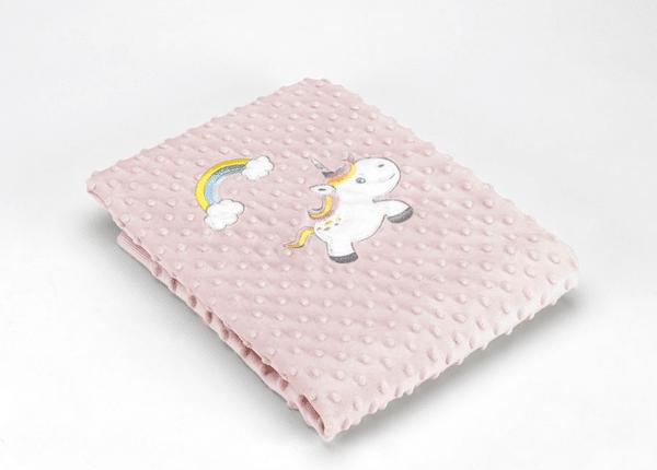Mora Детско одеяло Baby Galaxy 80x110 см розов Еднорог Volvoreta плюш F75/04
