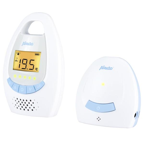 Alecto Дигитален бебефон бяло/синьо DBX-20