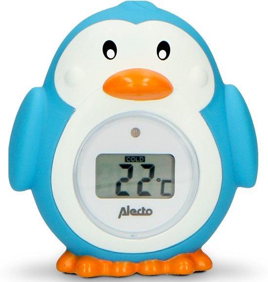Alecto Бебешки термометър за стая и вода Пингвин BC-11