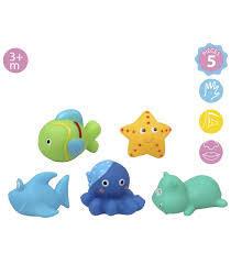 Kiokids Гумени играчки морски животни за баня 6бр 2045