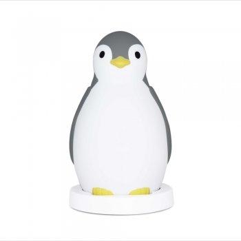 ZAZU Бебешка музикална лампа Пингвин сива za-pam-01