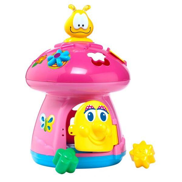 Molto Бебешка музикална образователна играчка Гъбка розова 13503