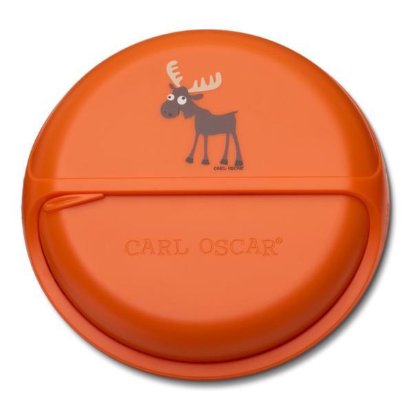 Carl Oscar Детска кутия за храна с разделения Moose оранжева 108407