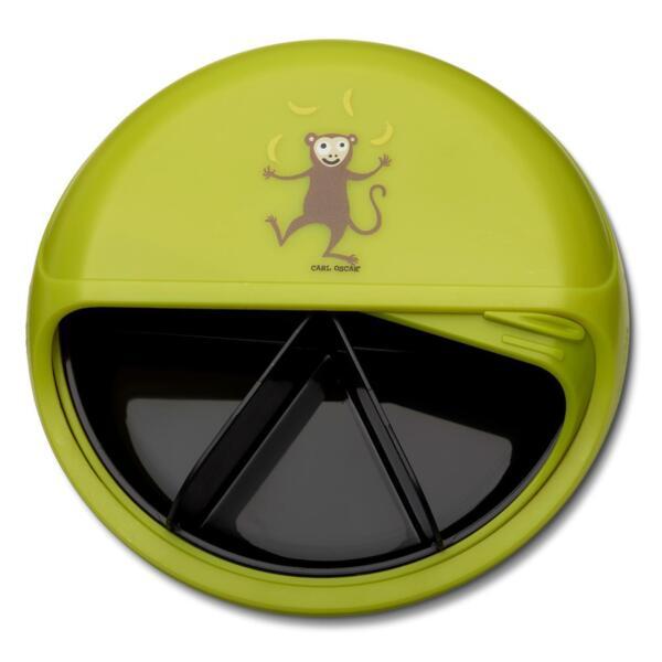 Carl Oscar Детска кутия за храна с разделения Monkey лайм 108401