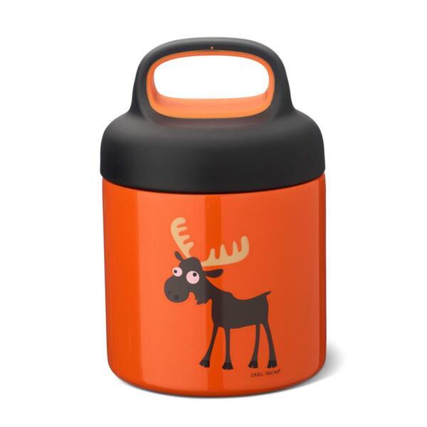 Carl Oscar Детски термос за храна 300мл Moose оранжев 109107