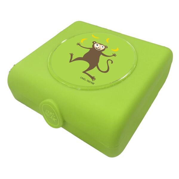 Carl Oscar Детска кутия за сандвичи Monkey лайм 107401