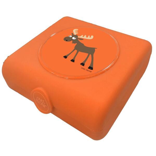 Carl Oscar Детска кутия за сандвичи Moose оранжева 107407