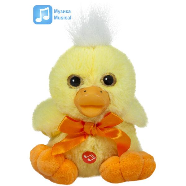 Amek Плюшена играчка Пате с панделка с музика 14см. 080500