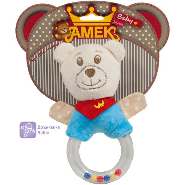Amek Плюшена бебешка дрънкалка с ринг 20см. 090614