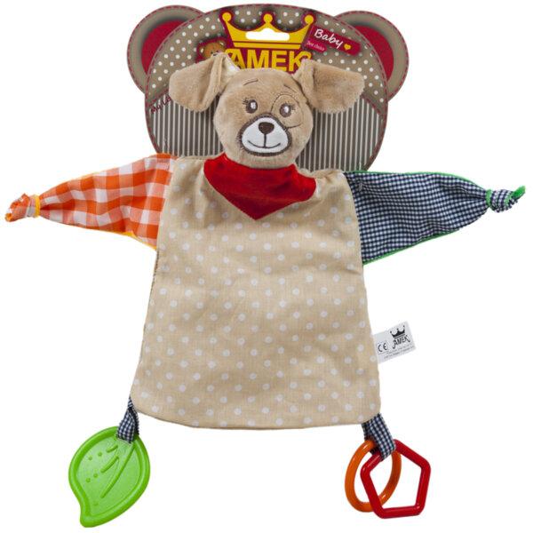 Amek Мека плюшена играчка за гушкане с кученце 30см 090629