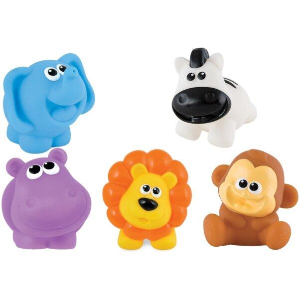 ANEK Бебешки гумени играчки Африкански животни Smily Play 001303