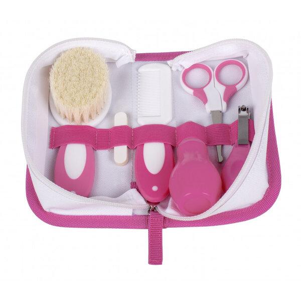 Interbaby Хигиенен комплект 6 части за бебе розов 1-02 NECE