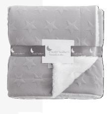 Interbaby Бебешко одеяло 80х110см полиестер сиво 00871-31