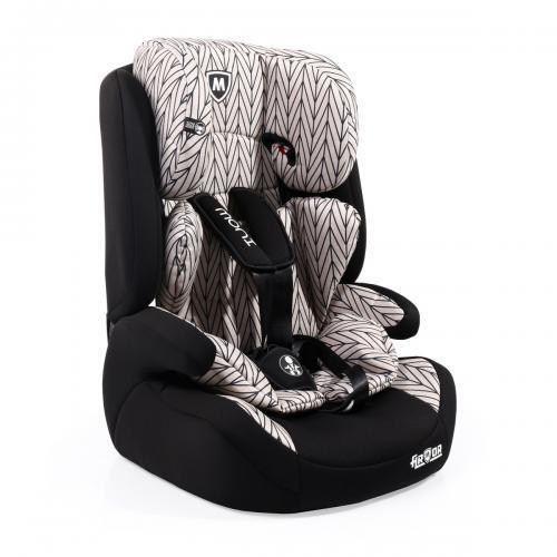 Moni Детски стол за кола Armor Premium 9-36кг бежови линии