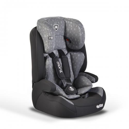 Moni Детски стол за кола Armor Premium 9-36кг сиви звезди