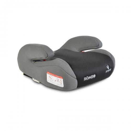 Cangaroo Детска анатомична седалка за кола с Isofix Romeo 22-36кг сив