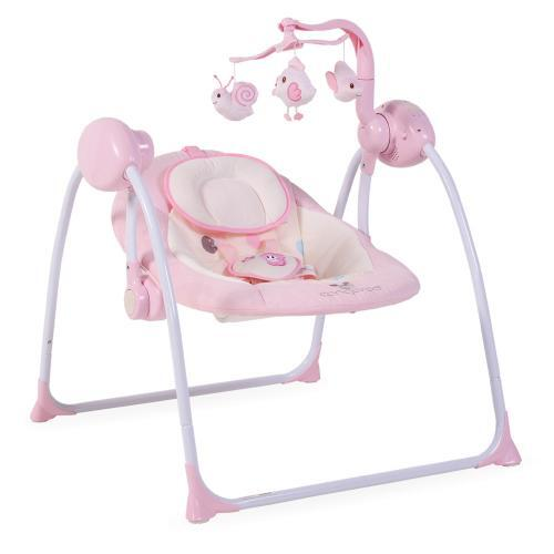Cangaroo Бебешка люлка Baby Swing Plus розова