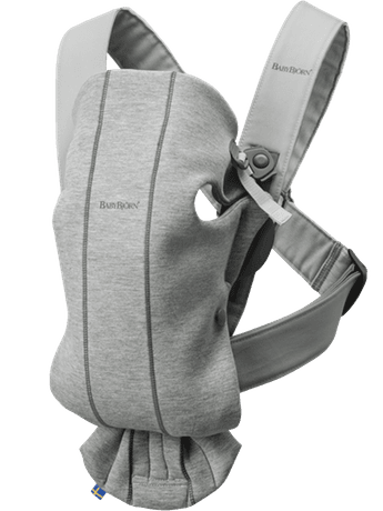 BABYBJÖRN Бебешко кенгуру Mini 3D Jersey Light Grey  светло сиво 021072Е1
