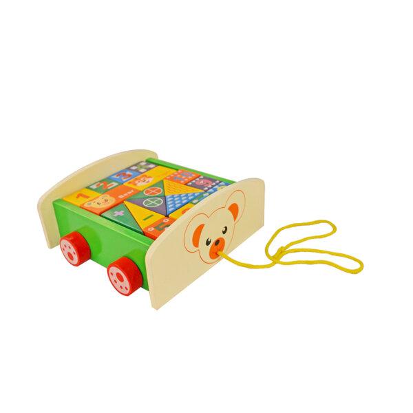 ANEK Дървена количка за дърпане DT6084