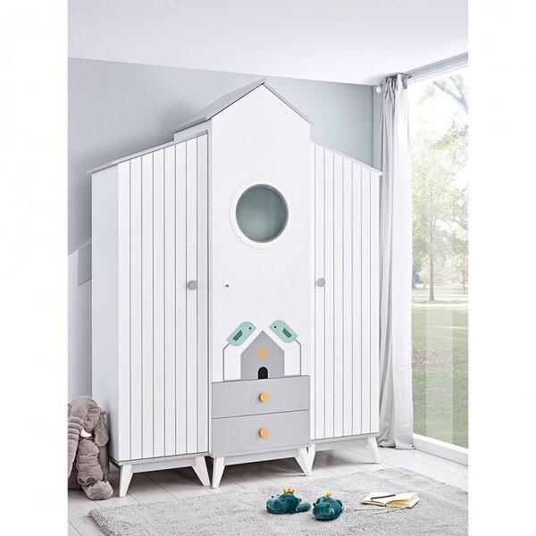 Bebe Stars Детски гардероб Bird House трикрилен 418-25