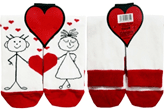 Olay Socks Бебешки чорапи сърце микс 2010012