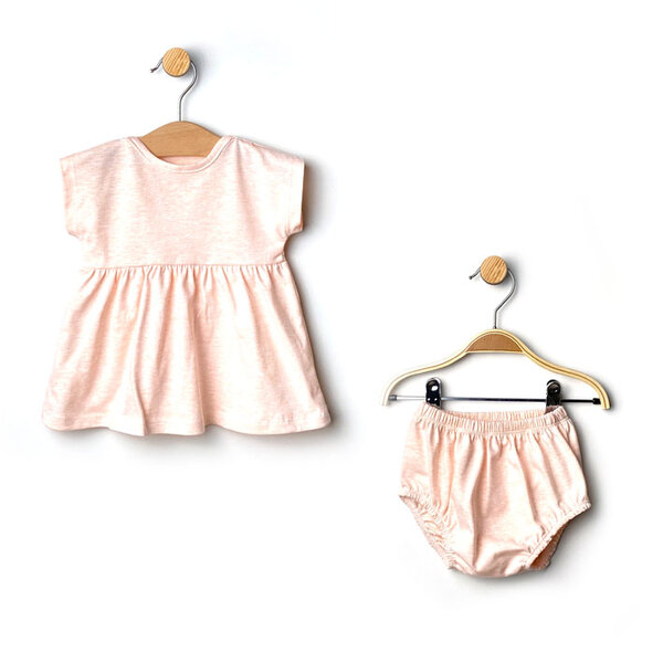 Rainy Детски комплект 2 части Бебешка рокля + шорти /трико/