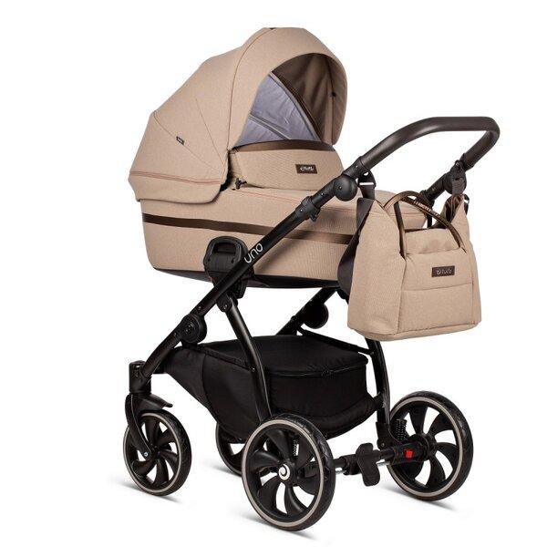 Tutis Комбинирана бебешка количка Uno 2 в 1 Бежова col.146 Nougat