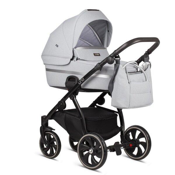 Tutis Комбинирана бебешка количка Uno 2 в 1 Бяла col.142 Risso