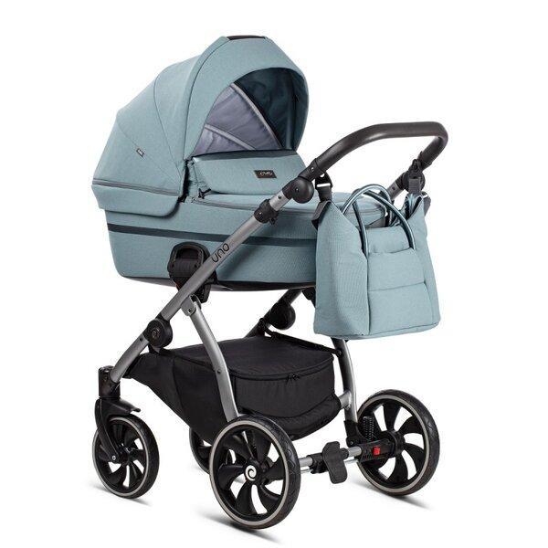 Tutis Комбинирана бебешка количка Uno 2 в 1 Мента col.143 Menta